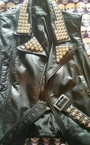 Forever 21 DIY pleather vest studs added